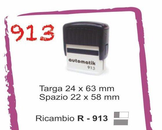 913. Timbro auto inchiostrante 913