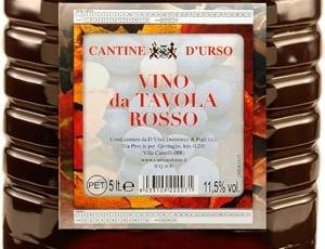 PET ROSSO  5  Litri Euro 4,00 EW