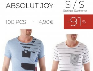 STOCK 98 UOMO T-SHIRT ABSOLUT JOY S/S