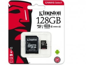 Kingston memory card microSDXC 128 GB, UHS-I, class 10