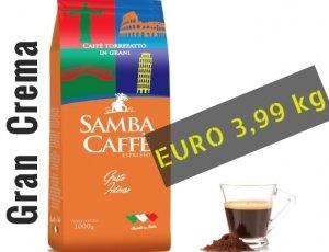 Espresso in Grani Gran Crema Samba Caffe
