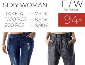 STOCK 105 DONNA JEANS PANTALONI SEXY WOMAN F/W