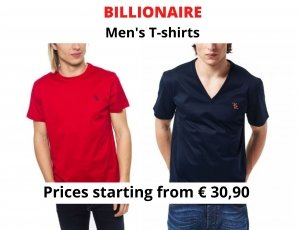 STOCK T-SHIRT UOMO BILLIONAIRE