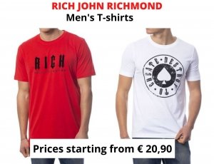 STOCK T-SHIRT UOMO RICH JOHN RICHMOND