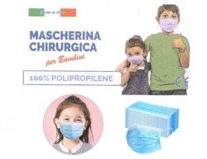 Mascherina chirurgiche per Bambini certificate CE