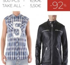 STOCK 68 TOTAL LOOK 525 PER UOMO S/S