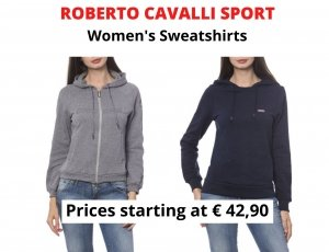 STOCK FELPE DONNA ROBERTO CAVALLI SPORT