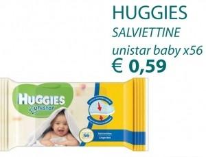 HUGGIES SALVIETTINE UNISTAR BABY X56 € 0.59
