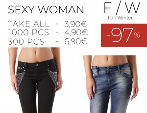STOCK 104 DONNA JEANS PANTALONI SEXY WOMAN F/W