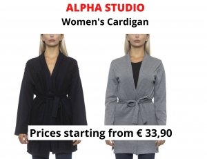 STOCK CARDIGAN DONNA ALPHA STUDIO
