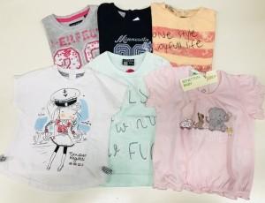 Lotto 118 - 50 T-Shirt Bambina 0-24 mesi