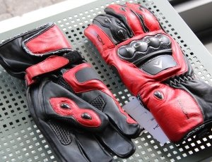 guanti moto in pelle