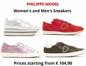 STOCK SNEAKERS UOMO E DONNA PHILIPPE MODEL