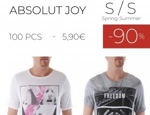 STOCK 99 UOMO T-SHIRT ABSOLUT JOY S/S