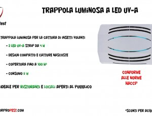 Trappole luminose LED UV-A | idonee HACCP