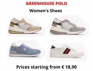 STOCK SNEAKERS DONNA GREENHOUSE POLO