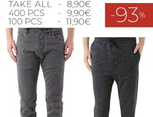 STOCK 82 UOMO JEANS PANTALONI ABSOLUT JOY F/W