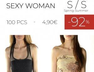 STOCK 133 T-SHIRT E TOP SEXY WOMAN S/S