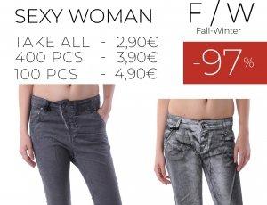 STOCK 102 DONNA JEANS PANTALONI SEXY WOMAN F/W