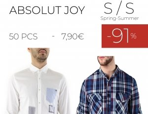STOCK UOMO CAMICIE ABSOLUT JOY S/S