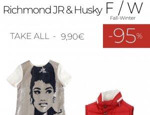 STOCK 118 ABBIGLIAMENTO BAMBINO RICHMOND JR - HUSKY F/W