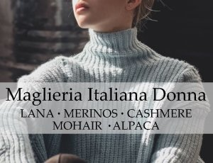 MAGLIERIA DONNA MADE IN ITALY LANA CASHMERE MERINOS MOHAIR